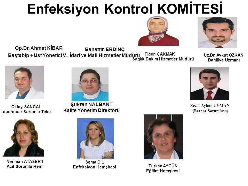 Enfeksiyon Kontrol KOMİTESİ Figen ÇAKMAK Sağlık Bakım Hizmetler Müdürü Oktay SANCAL Laboratuar Sorumlu Tekn.