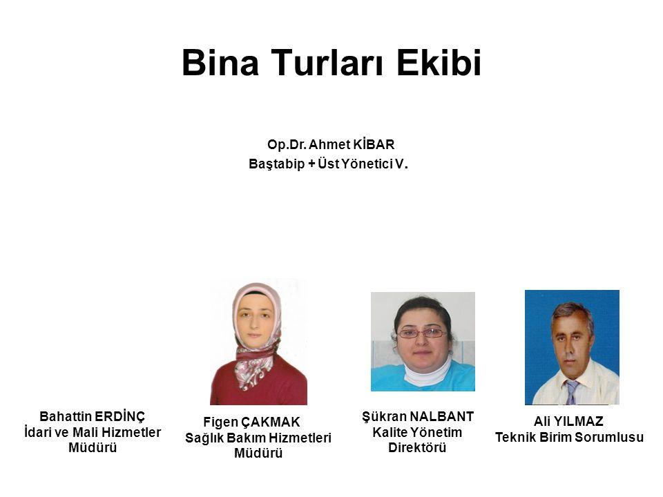 Bina Turları Ekibi Figen ÇAKMAK Sağlık Bakım Hizmetleri Müdürü Ali YILMAZ Teknik Birim Sorumlusu Op.Dr.