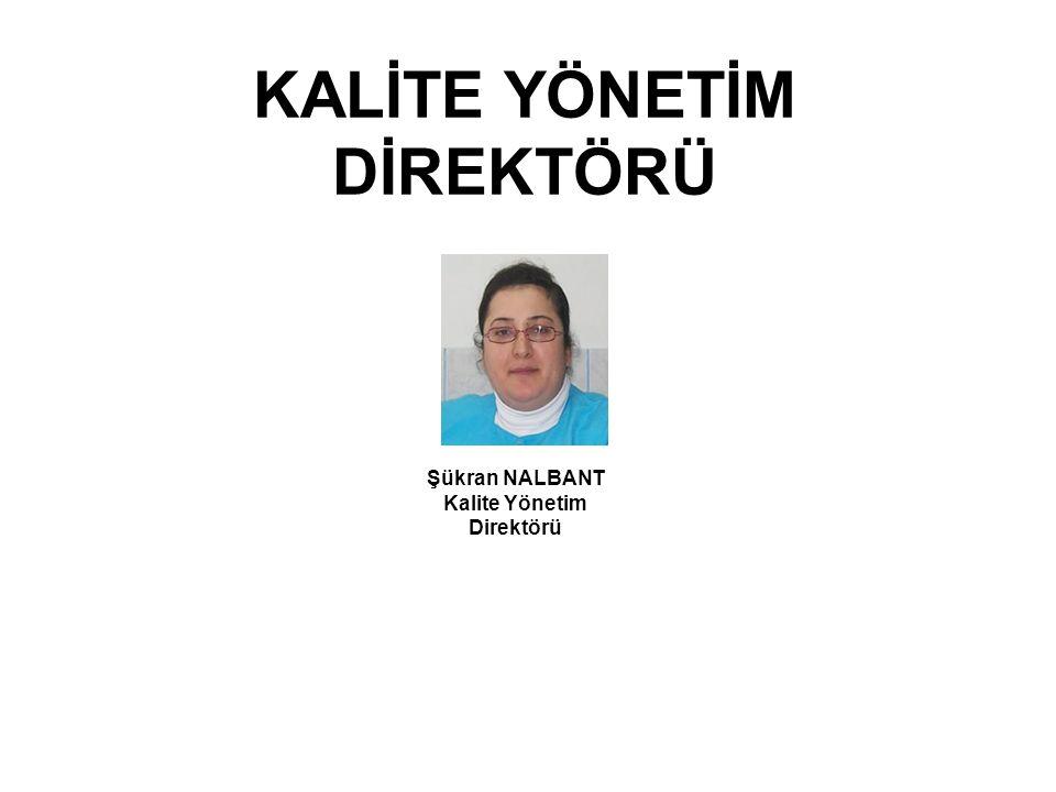 KALİTE YÖNETİM DİREKTÖRÜ Şükran NALBANT Kalite Yönetim Direktörü