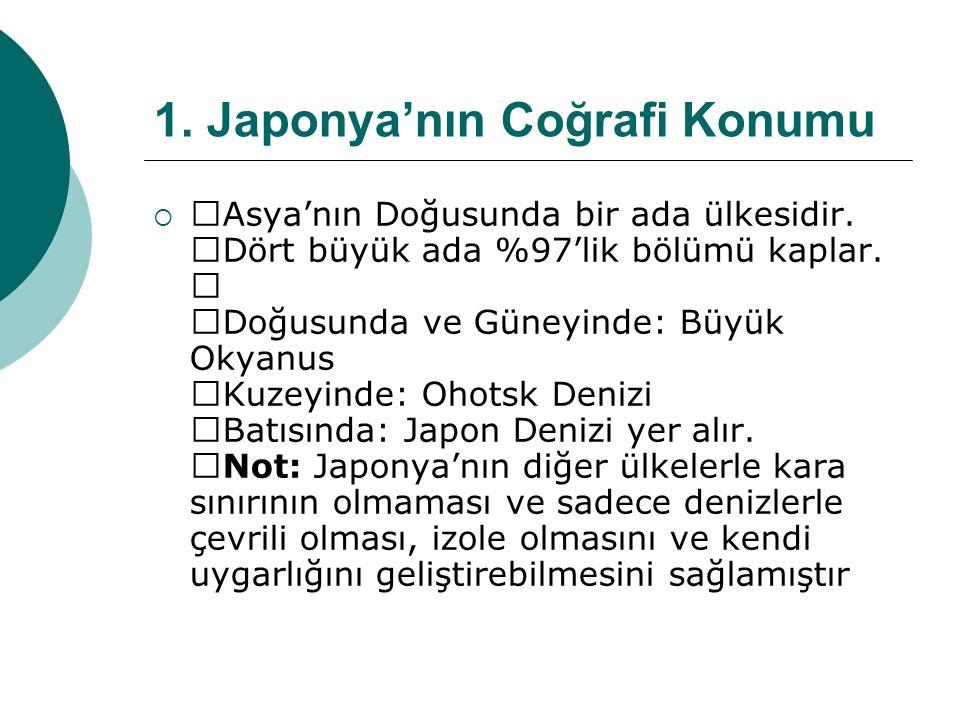 1.Japonya'nın Coğrafi Konumu  —Asya'nın Doğusunda bir ada ülkesidir.