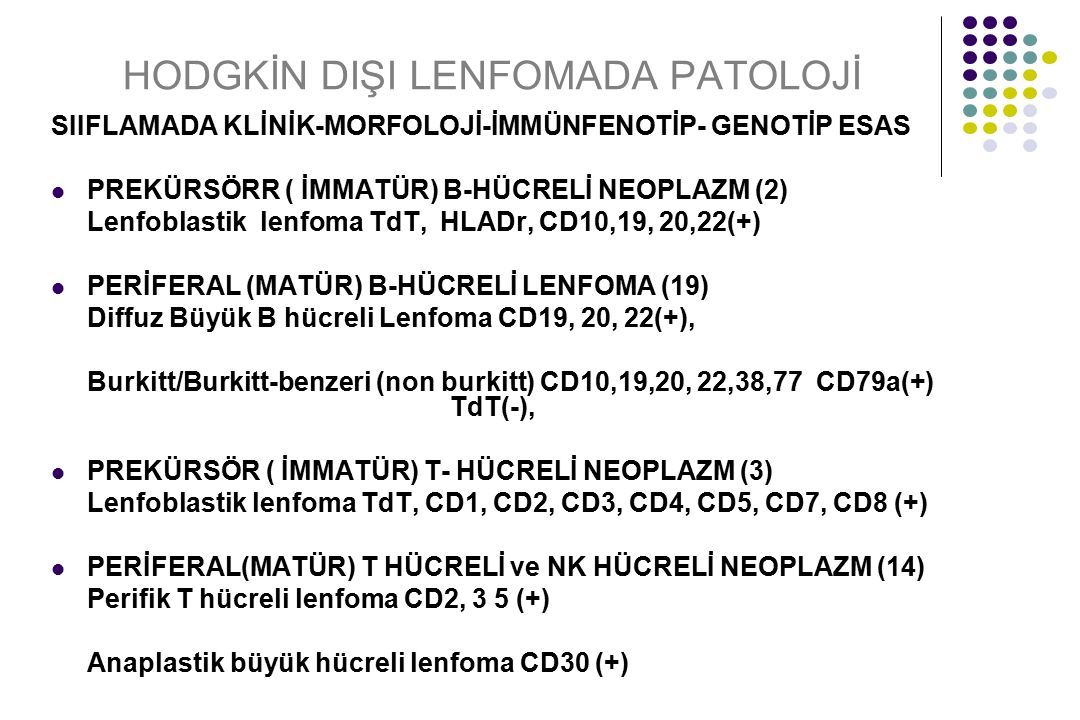 HODGKİN DIŞI LENFOMADA PATOLOJİ SIIFLAMADA KLİNİK-MORFOLOJİ-İMMÜNFENOTİP- GENOTİP ESAS PREKÜRSÖRR ( İMMATÜR) B-HÜCRELİ NEOPLAZM (2) Lenfoblastik lenfo