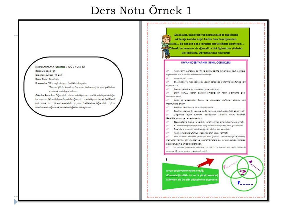 Ders Notu Örnek 1