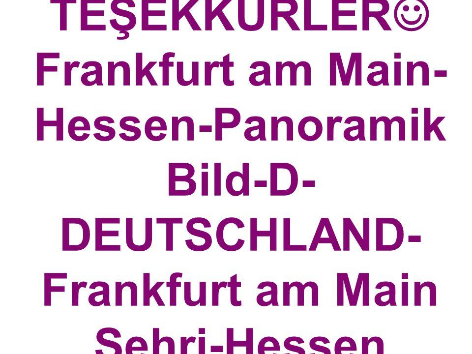 PROF.DR.A.ŞENO L ERTÜRKOĞLU TEŞEKKÜRLER Frankfurt am Main- Hessen-Panoramik Bild-D- DEUTSCHLAND- Frankfurt am Main Şehri-Hessen Eyaleti-Almanya