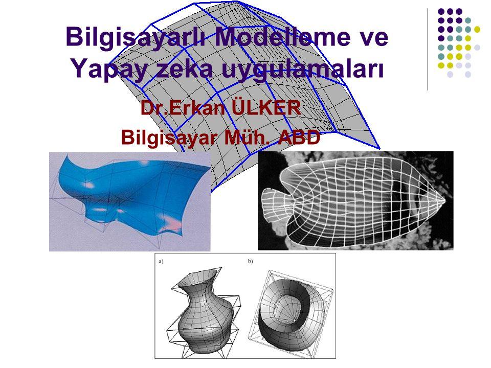 Bilgisayarlı Modelleme ve Yapay zeka uygulamaları Dr.Erkan ÜLKER Bilgisayar Müh. ABD