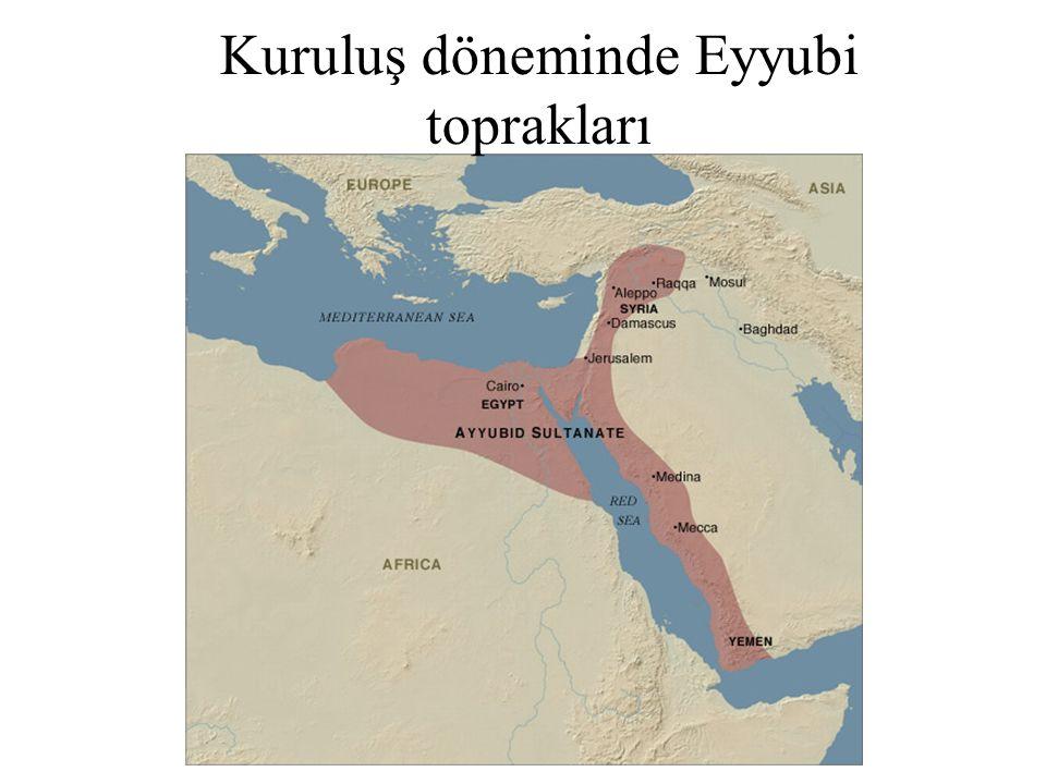 Kuruluş döneminde Eyyubi toprakları