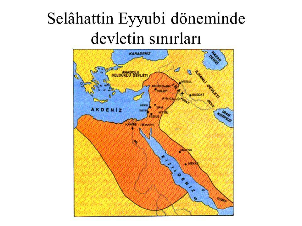 Selâhattin Eyyubi döneminde devletin sınırları