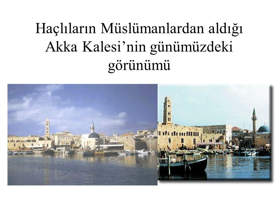 Haçlıların Müslümanlardan aldığı Akka Kalesi'nin günümüzdeki görünümü