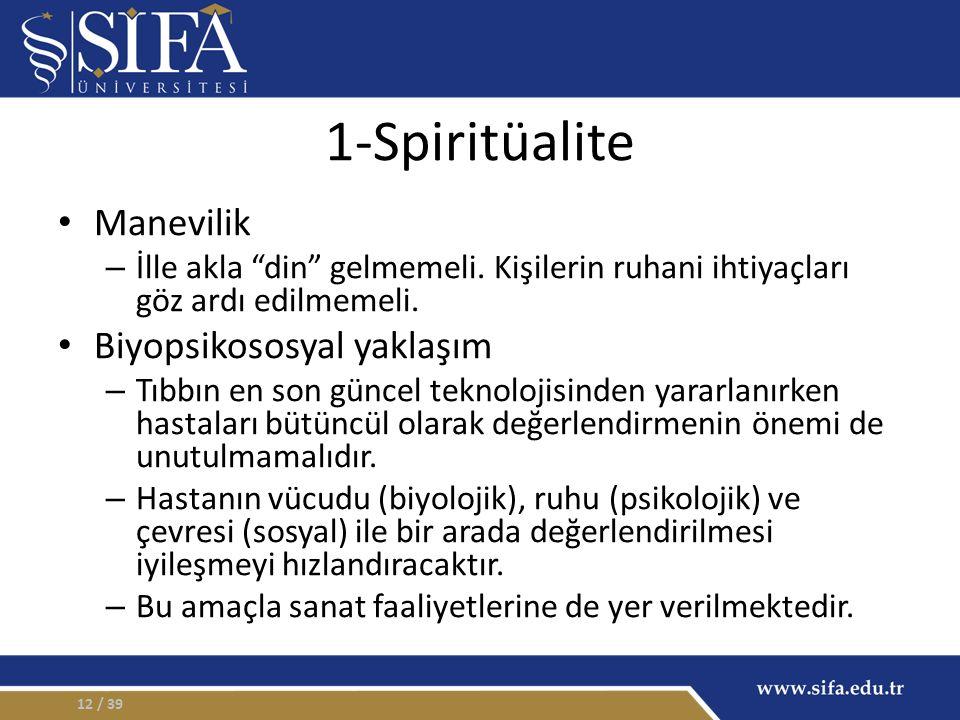 1-Spiritüalite Manevilik – İlle akla din gelmemeli.