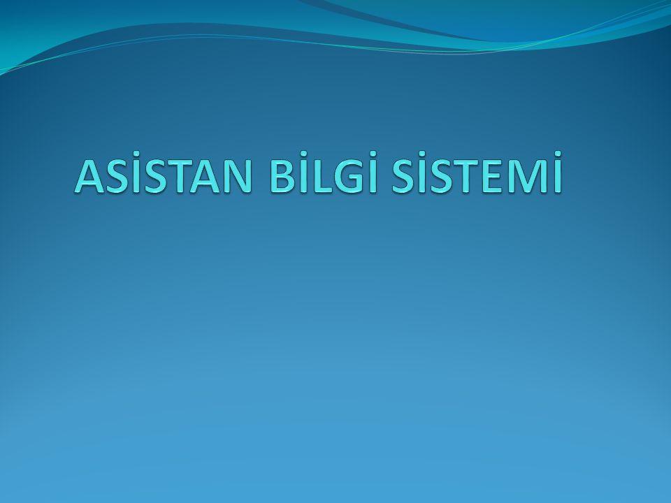 Bir asistanın, asistanlık dönemimdeki bilgilerinin sistem üzerinden takibinin yapılmasını sağlamak.