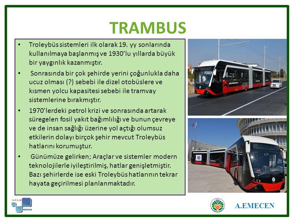 TRAMBUS Troleybüs sistemleri ilk olarak 19.