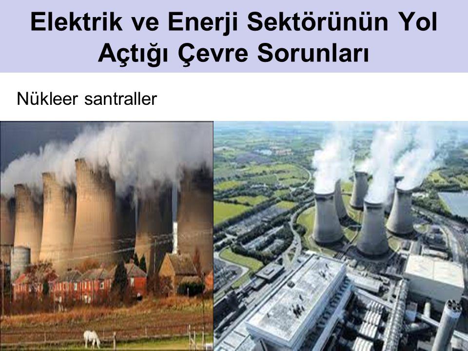 14 Elektrik ve Enerji Sektörünün Yol Açtığı Çevre Sorunları Nükleer santraller