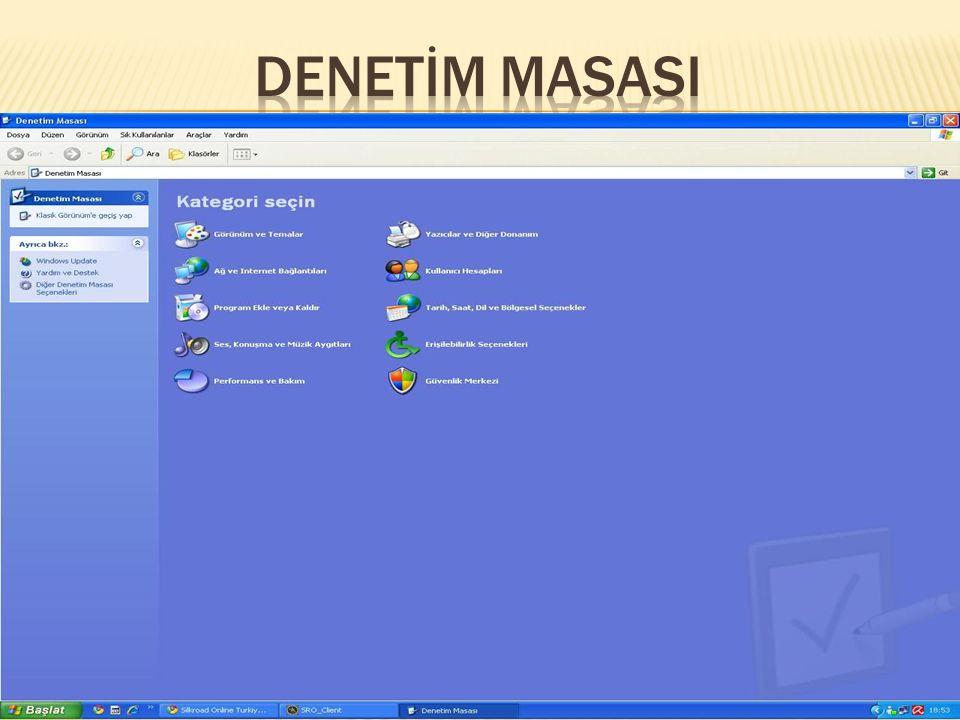  Başlat Menüsü Başlat menüsü Windows u kullanmaya başlamanız için ihtiyacınız olan her şeyi içerir.