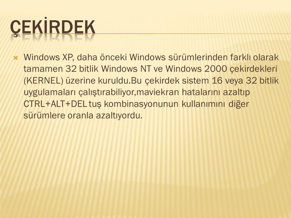  Windows Whistler: Windows Whistler projesi 1999 yılında başlayan Neptune Windows NT tabanlı genel tüketici kullanımı için güncelleştirilmiş bir sürüm olarak geliştirilmeye başlanmıştı.Ancak, Ocak 2000 de,proje iptal edildi ve Whistler projesine başlandı.