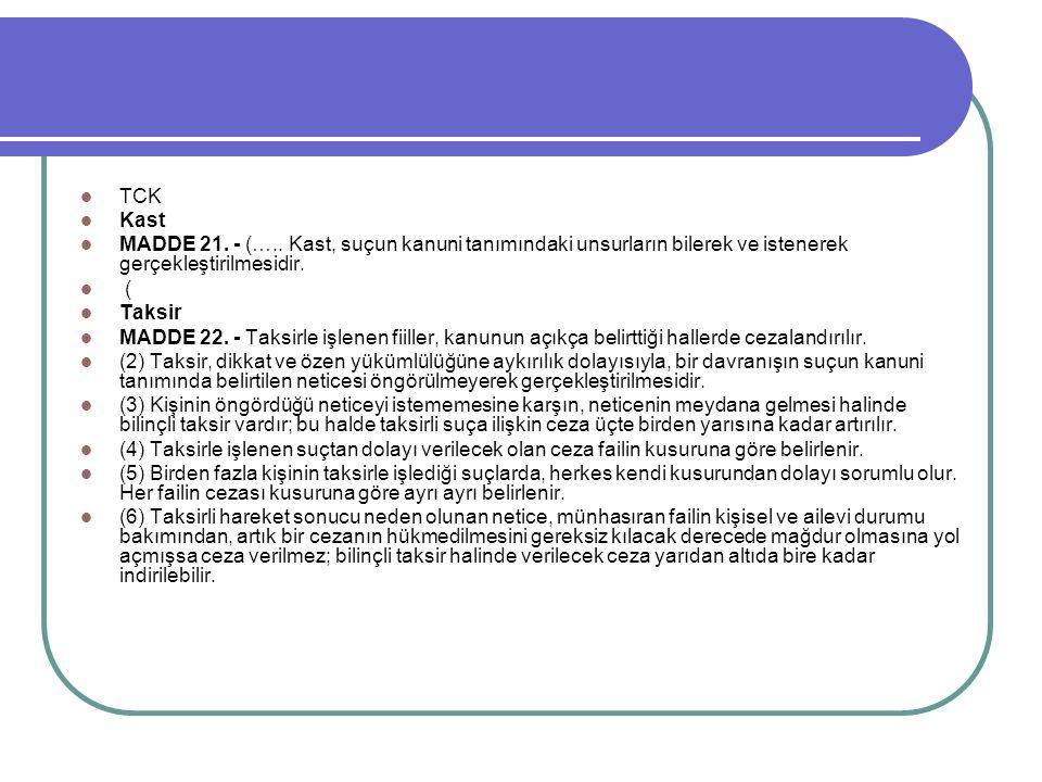 TCK Kast MADDE 21. - (…..