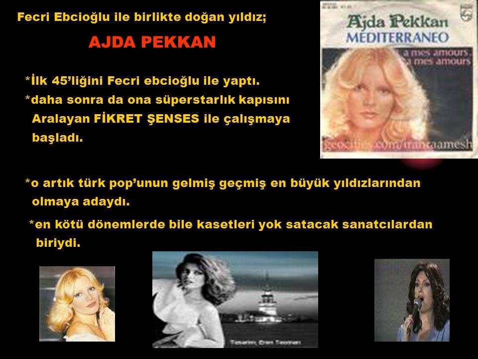 Fecri Ebcioğlu'ndan sonra SEZEN CUMHUR ÖNAL çıkar piyasaya ve birçok şarkıya aynı anda Söz yazmaya başlar.