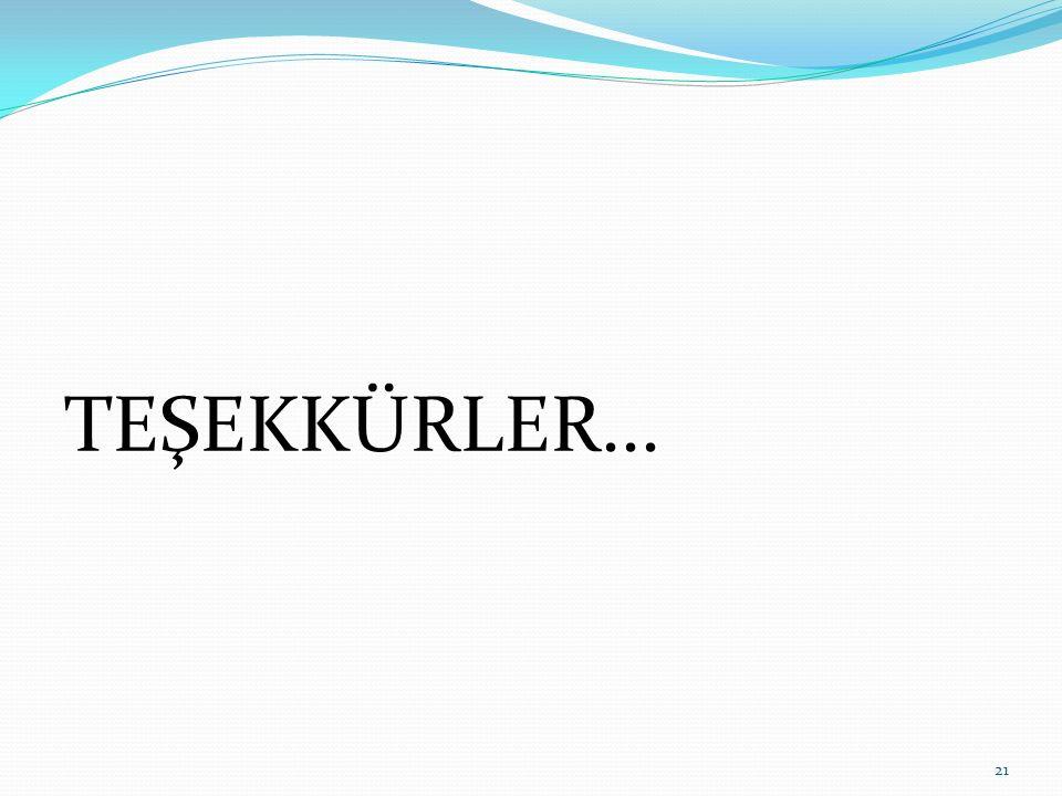 TEŞEKKÜRLER... 21