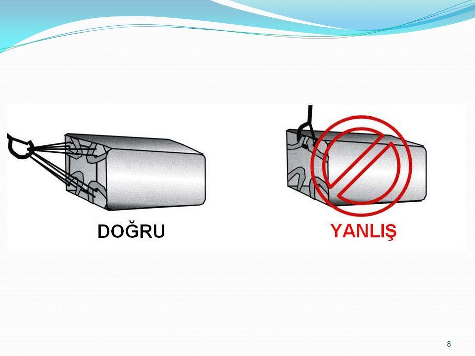 Dolu bir big-bag'in taşınması için uygun bir forklift kullanılmalıdır.