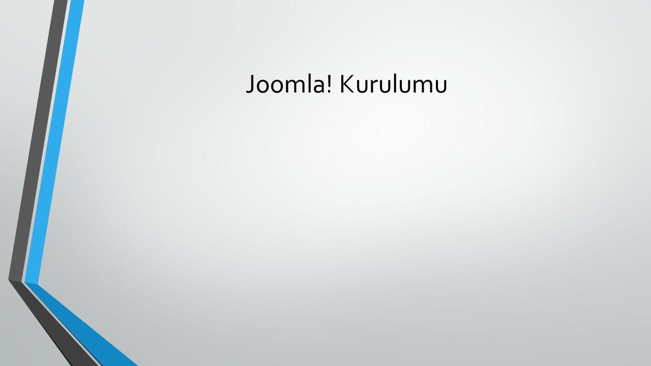 Joomla! Kurulumu