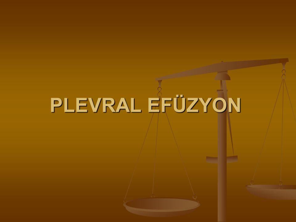 PLEVRAL EFÜZYON