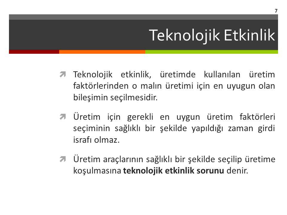 Şekil 18.6 Artan Verim ve Azalan Maliyet İlişkisi 38