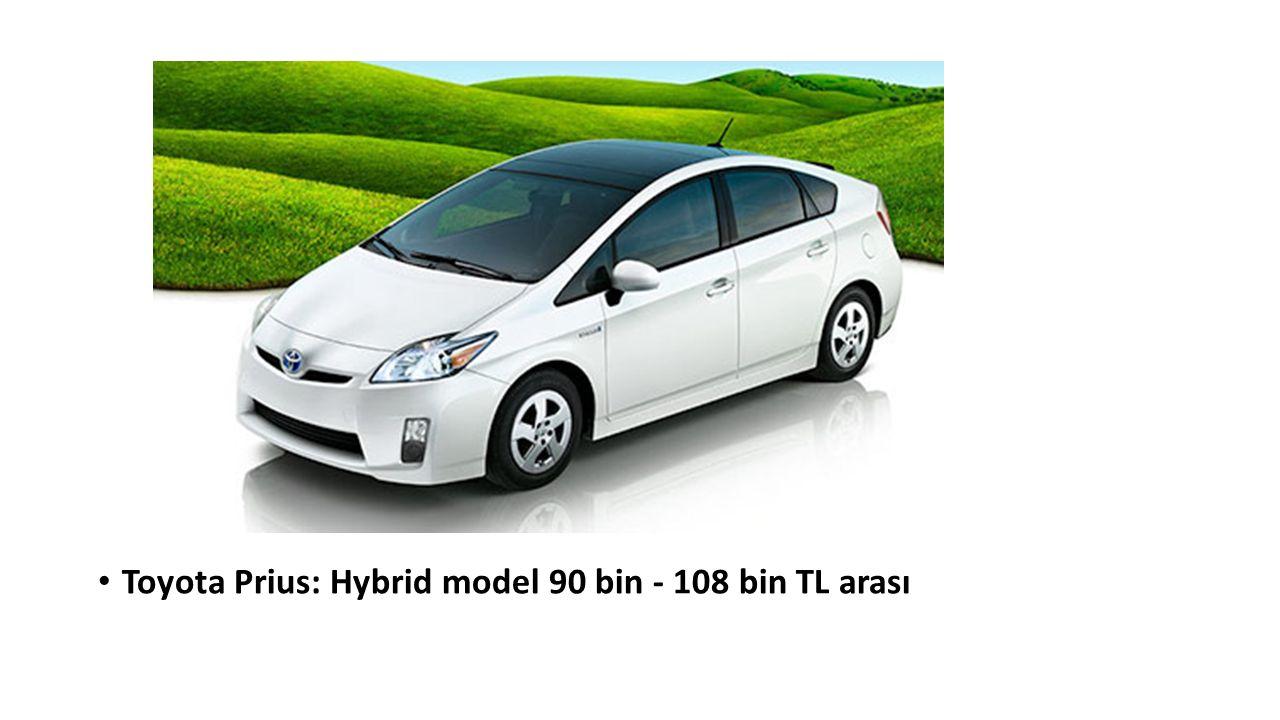 Toyota Prius: Hybrid model 90 bin - 108 bin TL arası