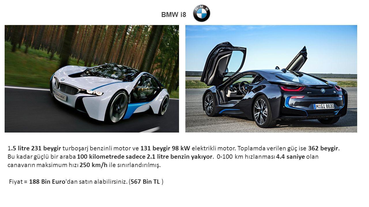 1.5 litre 231 beygir turboşarj benzinli motor ve 131 beygir 98 kW elektrikli motor.