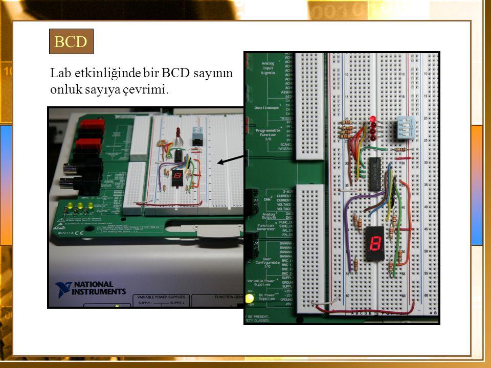 BCD Lab etkinliğinde bir BCD sayının onluk sayıya çevrimi.