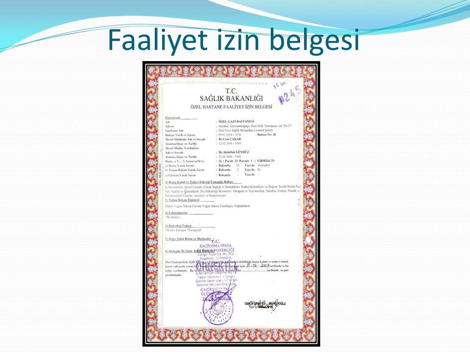 Faaliyet izin belgesi