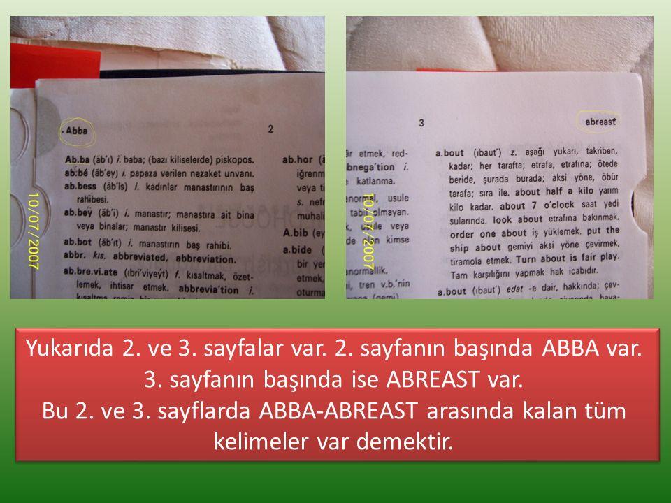 Yukarıda 2. ve 3. sayfalar var. 2. sayfanın başında ABBA var.