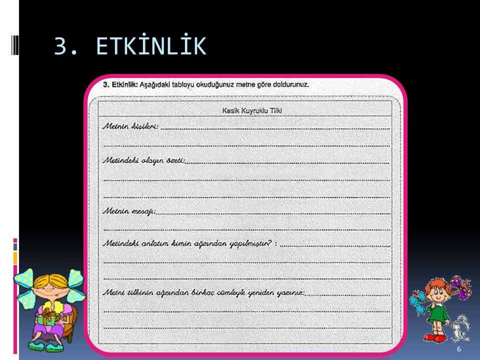3. ETKİNLİK www.dilimce.com 6
