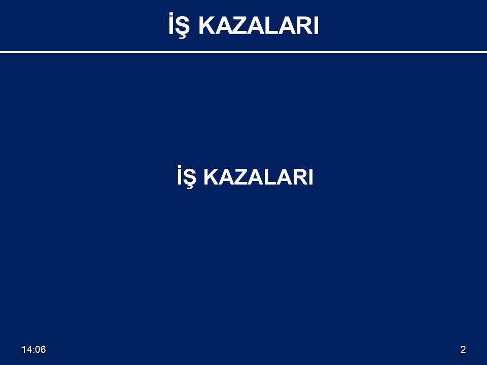 14:082 İŞ KAZALARI