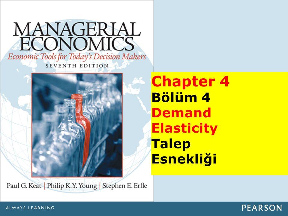Chapter 4 Bölüm 4 Demand Elasticity Talep Esnekliği