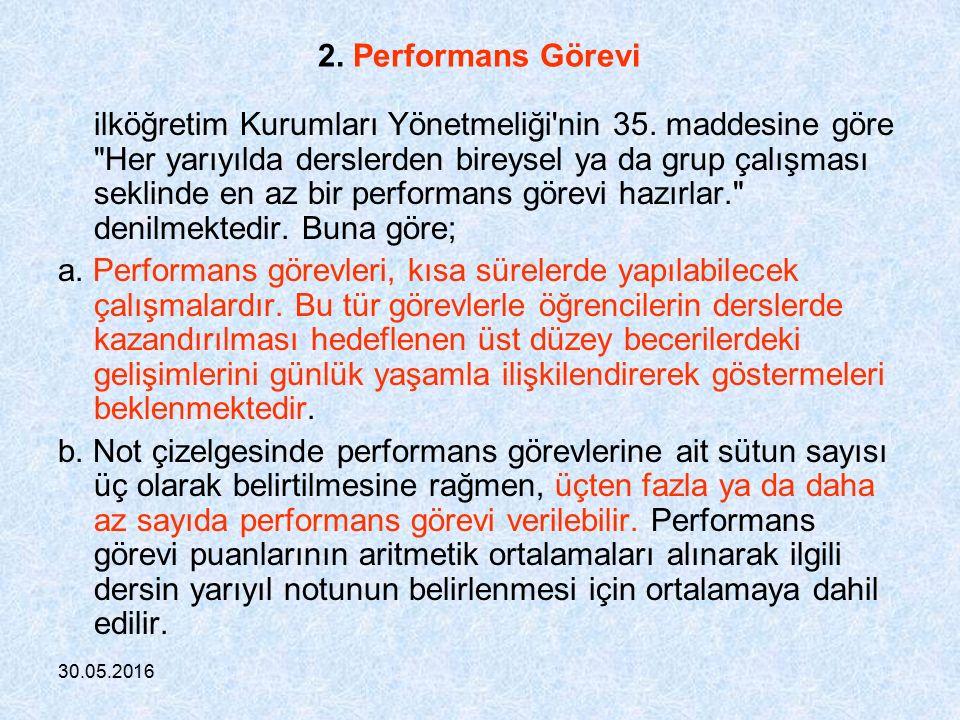 30.05.2016 GENELGE İlköğretim Kurumlarındaki Ölçme ve Değerlendirme 19/12/2006 i.