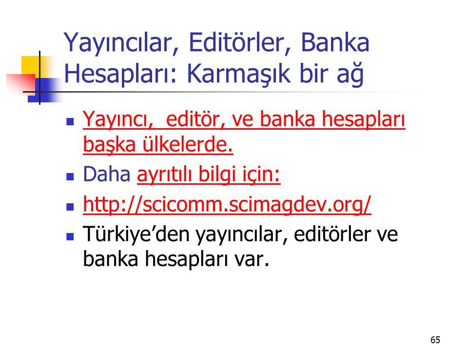 Yayıncılar, Editörler, Banka Hesapları: Karmaşık bir ağ Yayıncı, editör, ve banka hesapları başka ülkelerde. Yayıncı, editör, ve banka hesapları başka