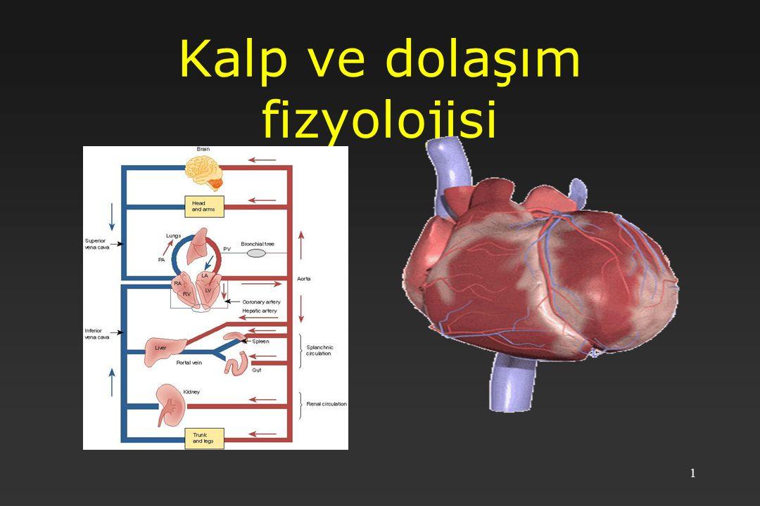 2 GİRİŞ Dolaşım sistemi merkezde kalp ve kalbe giren ve çıkan damarların oluşturduğu kapalı bir sistemdir.
