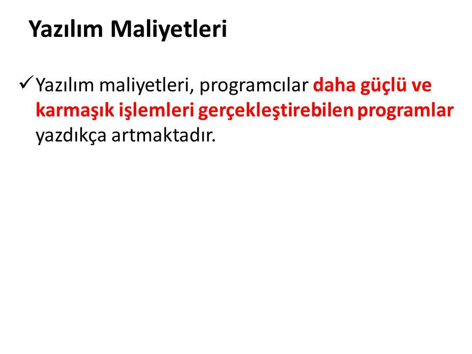 Programlama sürecini hızlandırabilmek amacıyla yüksek seviyeli diller geliştirildi.