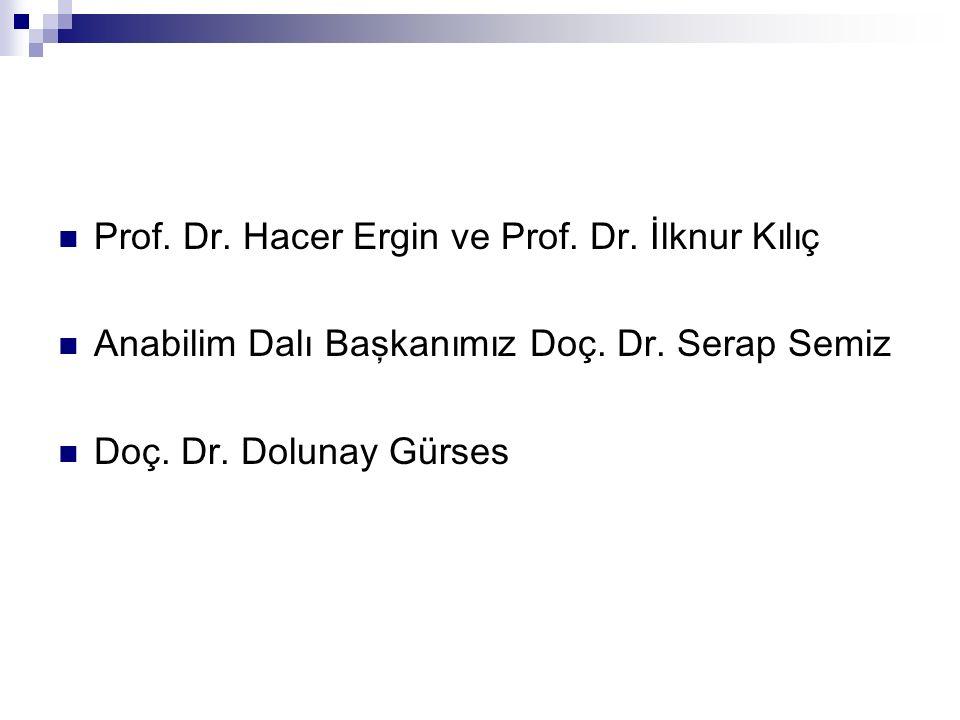 Prof. Dr. Hacer Ergin ve Prof. Dr. İlknur Kılıç Anabilim Dalı Başkanımız Doç.