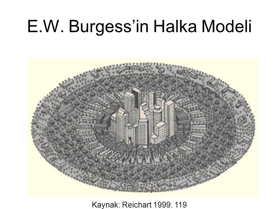 E.W. Burgess'in Halka Modeli Kaynak: Reichart 1999: 119
