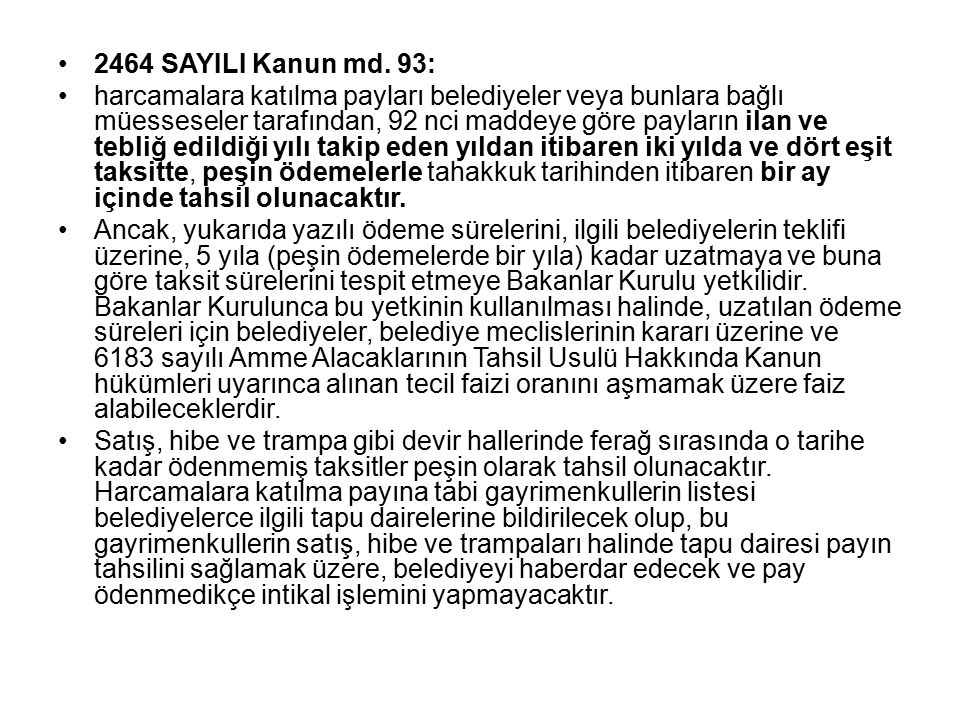 2464 SAYILI Kanun md.
