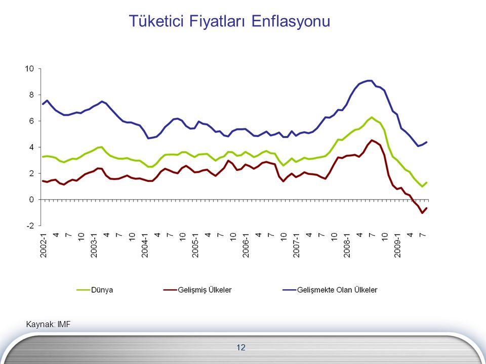 12 Tüketici Fiyatları Enflasyonu Kaynak: IMF 12