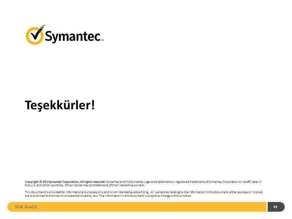 Teşekkürler. Copyright © 201 Symantec Corporation.