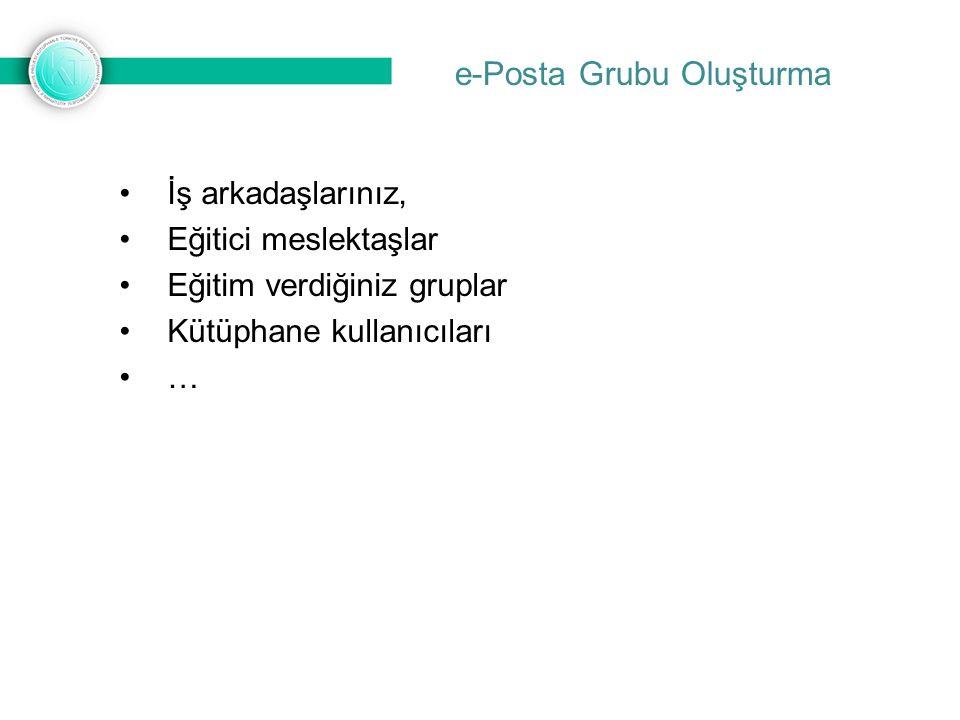 İş arkadaşlarınız, Eğitici meslektaşlar Eğitim verdiğiniz gruplar Kütüphane kullanıcıları …