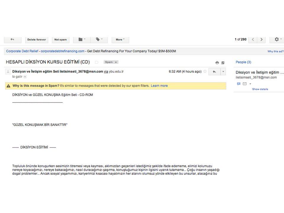e-Posta İstenmeyen e-posta Genelde ticaridir Talep etmediğiniz halde e-posta hesabınıza gelen reklam, kampanya v.b bilgiler Nasıl Korunurum.