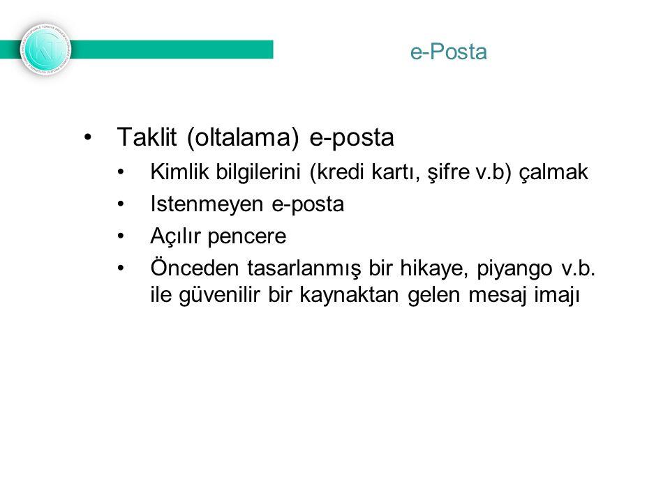 e-Posta Taklit (oltalama) e-posta Nasıl Korunurum!.