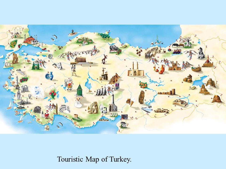 Touristic Map of Turkey.