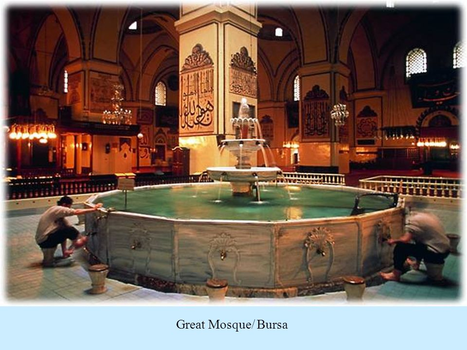 http://www.tourismistanbulturkey.com/photos%203.html Great Mosque/ Bursa