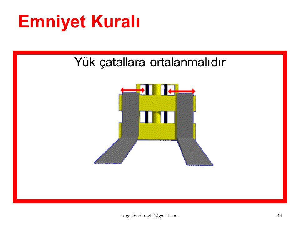 Emniyet Kuralı Yük yukarıdayken hareket halinde, olası yüksek engellere dikkat edilmelidir. 43 turgayboduroglu@gmail.com