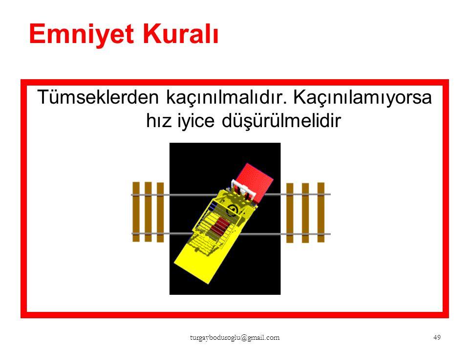 Emniyet Kuralı Yüklü makine ile rampalara düz viteste çıkılmalı, geri viteste inilmelidir. 48 turgayboduroglu@gmail.com
