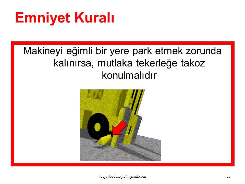 Park ettikten sonra Kontağı kapatılır El frenini çekilir 54 turgayboduroglu@gmail.com