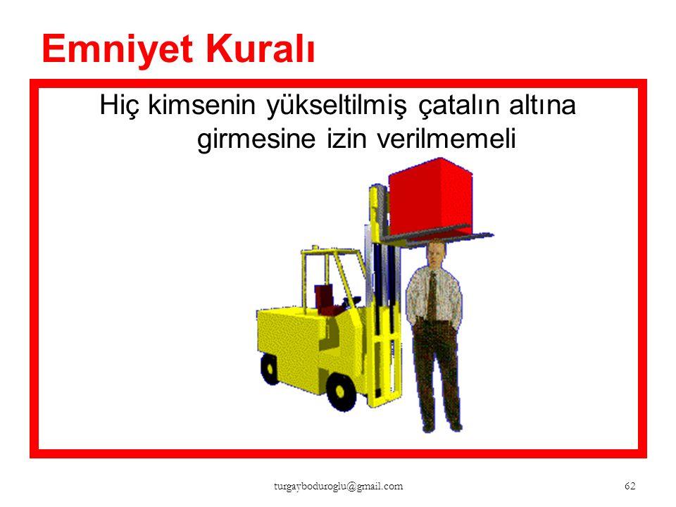 Emniyet Kuralı Emniyet kemeri takılmalı 61 turgayboduroglu@gmail.com
